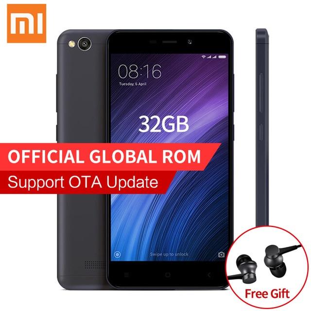 "Оригинал xiaomi redmi 4а 4 pro мобильного телефона 2 ГБ ram 32 ГБ rom snapdragon 425 quad core 5.0 ""HD 4 Г FDD LTE 13MP Камера MIUI 8.1"