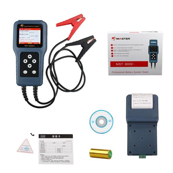 MST 8000 + Analyseur de Batterie Numérique Avec Imprimante Amovible dans Batterie Testeurs de Automobiles et Motos