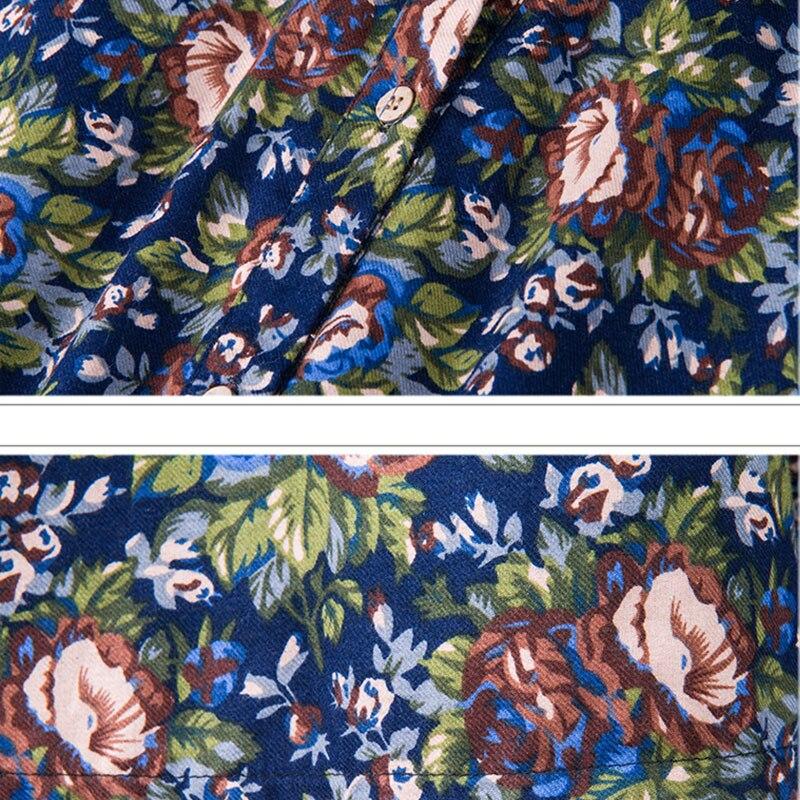 Lâche La Nouveau Long Robe navy Col Red Longues 2017 Femmes Floral Hiver Stand Paragraphe À Plus Féminine Taille Manches Ls832 Flowers Automne 7dtxqqP