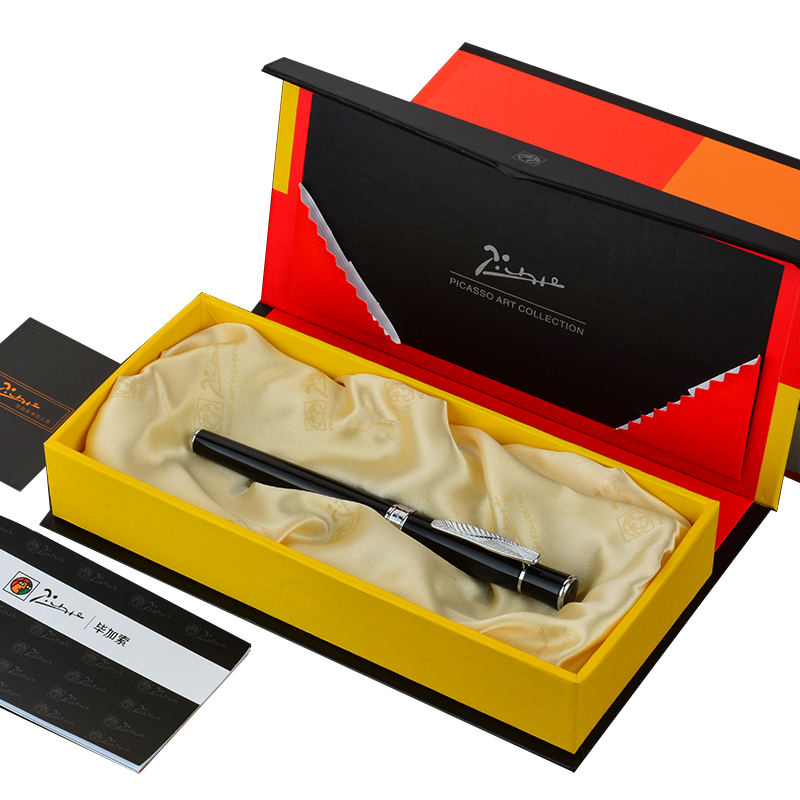 Picasso Pimio High-end Gift Fountain Pen F Nib 0.5mm EF Nib 0.38mm for Choose Business Office Financial Pens with A Gift Box most popular duke confucius bent nib art fountain pen iraurita 1 2mm calligraphy pen high end business gift pens with a pen case