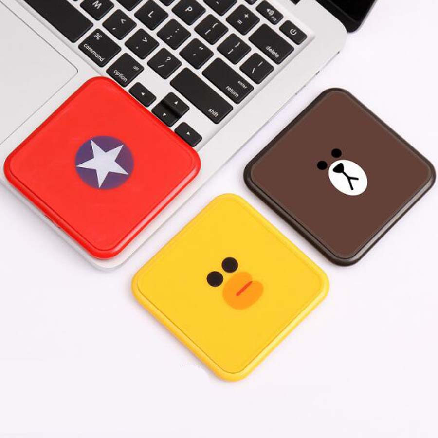 Cute Cartoon Qi Wireless Charger For IPhone X 8 Plus Fast Charging Pad For Galaxy S8 Plus Note 8 S7 S7 S9 Edge S6 Edge Plus