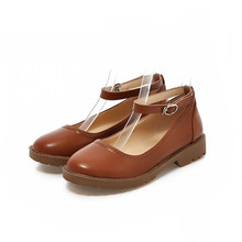 Fashion Single Buckle Strap Women Flats 2015 Brand Round toe Rome style Sweet Princess Spring Summer Shoes Flat Lolita Shoes