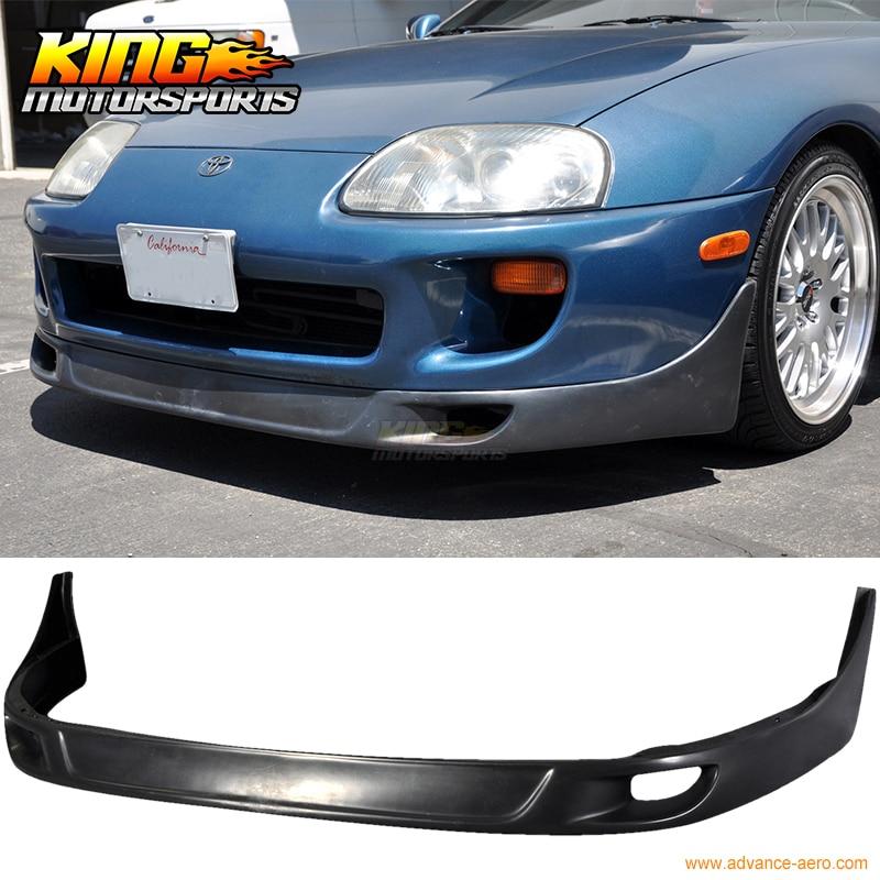 Fits 93-98 Toyota Supra JDM Style Front Bumper Lip Spoiler PU Black