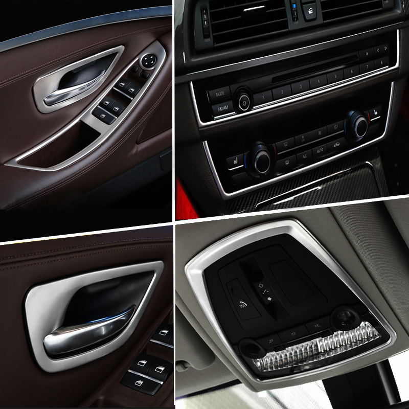 Accessories for BMW 5 Series F10 F18 2011-17 Car Inner Gearshift Air Conditioning CD Panel Door Armrest Cover Trim Car Stickers