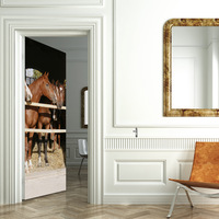 Horse Self Adhesive Wallpaper Roll for Furniture Bathroom Kitchen Furniture Wardrobe Door Wall Paper PVC Stickers
