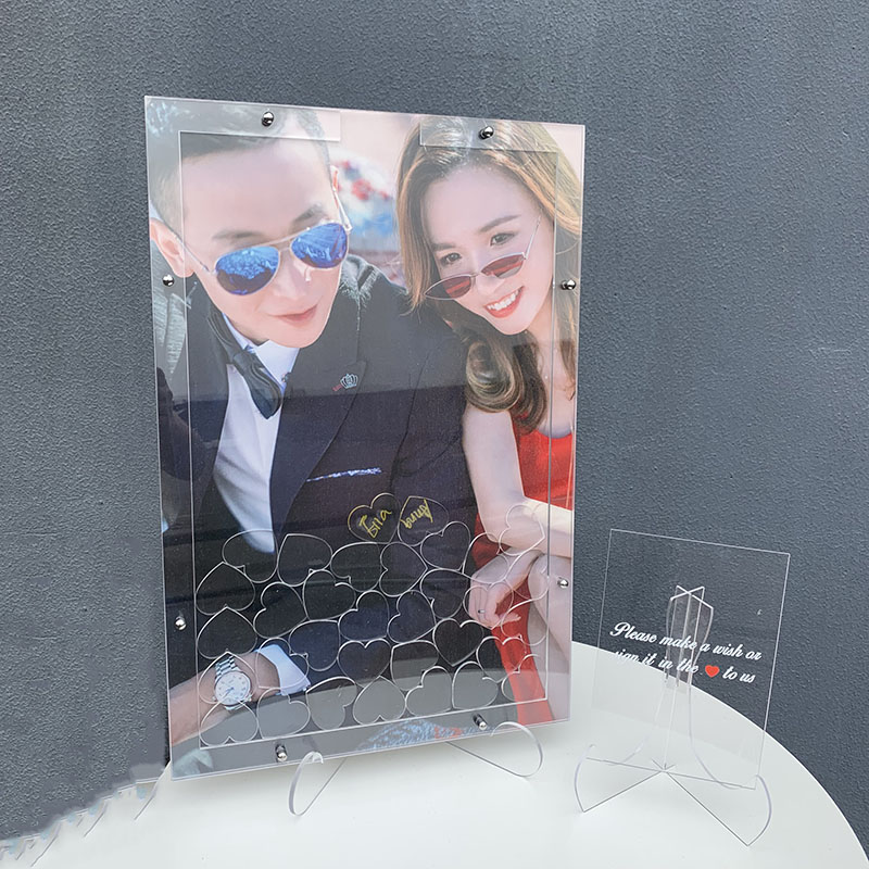 1 Set Signature Plate Creative DIY Wedding Photo Personal Custom Signature Guestbook For Birthday Party Wedding Decoration