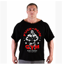 2015 Summer Golds workout Bodybuilding Wear Rag T Shirt Muscle men World Sportswear T shirts