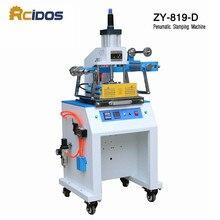 ZY-819D пневматическая машина для штамповки, машина для скручивания, ПЕЧАТНАЯ МАШИНКА, штапм с логотипом, машина для тиснения именных карт