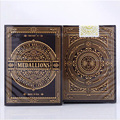 1 cubierta A Estrenar Theory11 Medallones Firma Cubierta de Oro En Relieve Caja Cubierta Naipes Trucos de magia Poker Poker 83102