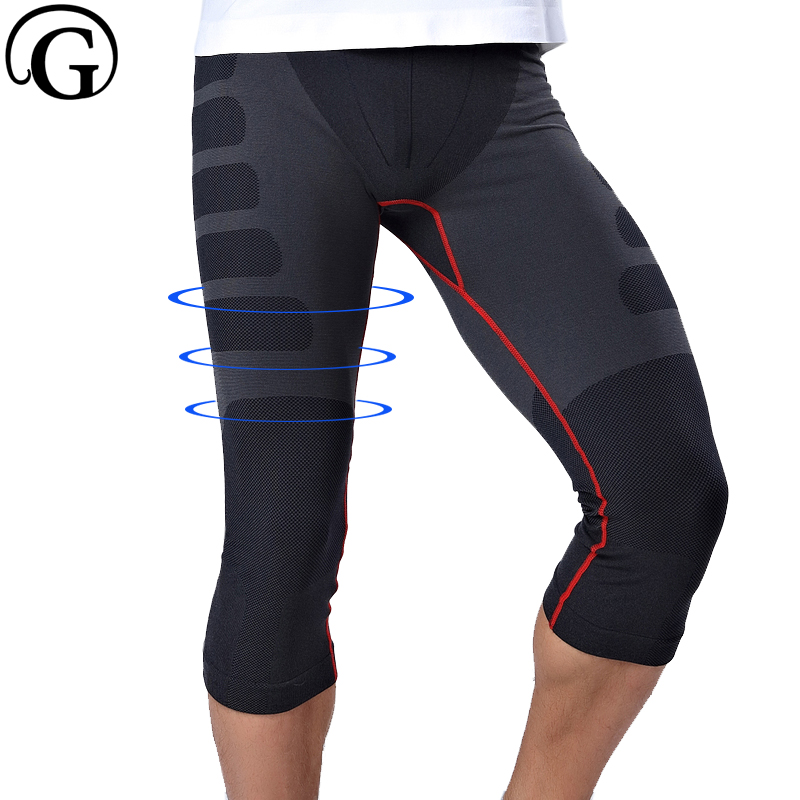 Men Thigh Slimming Fitness Capri Pants