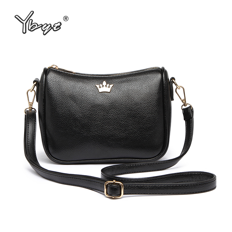 YBYT brand 2018 new PU leather women solid crown bag ladies satchel girls shopping pack female shoulder messenger crossbody bags ybyt brand 2017 new casual pu leather women package envelope clutch female shopping bag ladies shoulder messenger crossbody bags