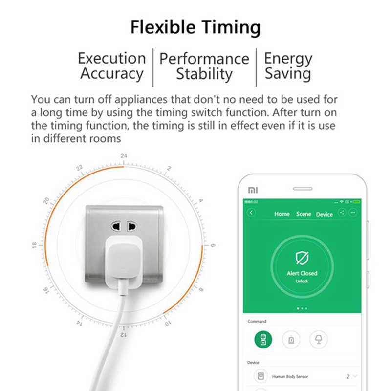 Xiaomi MIJIA умная беспроводная Wi-Fi розетка ZigBee версия Модернизированный пульт дистанционного управления переключатель времени подсчет мощности поддержка шлюза