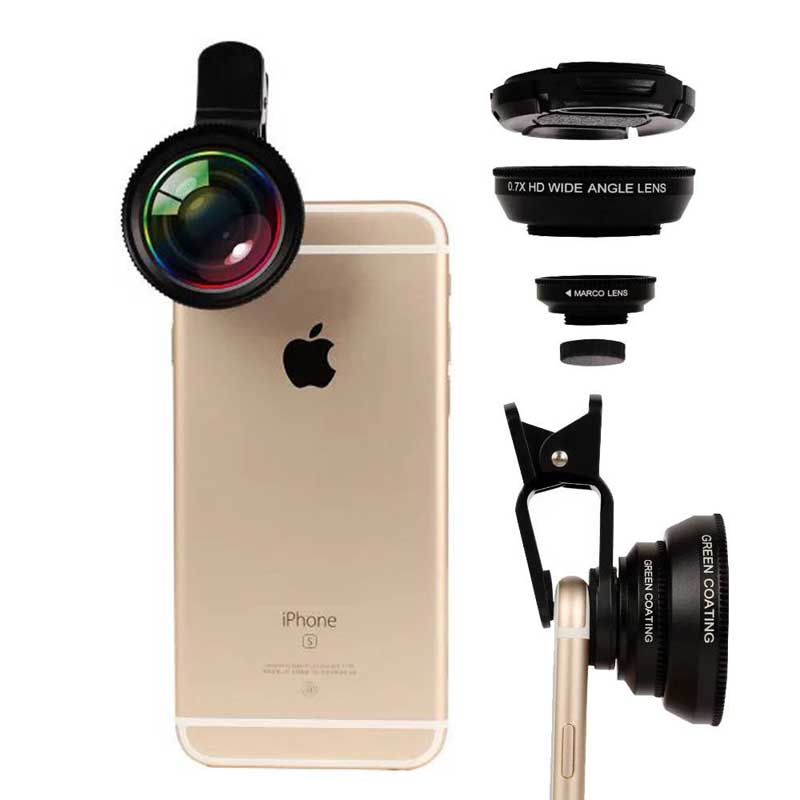 2in1 0.7X HD Super Wide Angle 12X Macro Camera Phone Photo Lens for LG G3 G4 G5 G6 SE V10 V20 G4 G5 mini Stylo 2 LS775 LS770 image