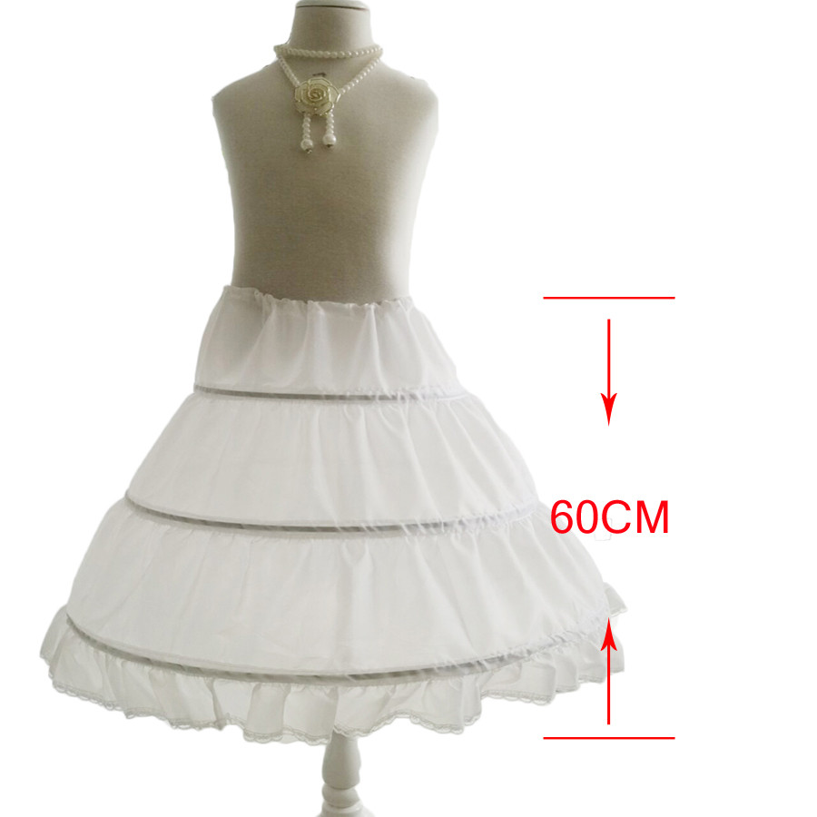New A-line 3 Hoops Children Kid Dress Bridal Petticoat Crinoline Underskirt Wedding Accessories For Flower Girl Dress