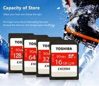 Toshiba SD Memory Card UHS U3 128Gb 90MB S 32GB SDHC Card SD 64GB SDXC Card
