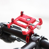 Universal Mobile Phone Holder Rotatable Bike Bicycle Handlebar Mount Holder Aluminum Alloy Adjustable Bracket Anti slip Clip