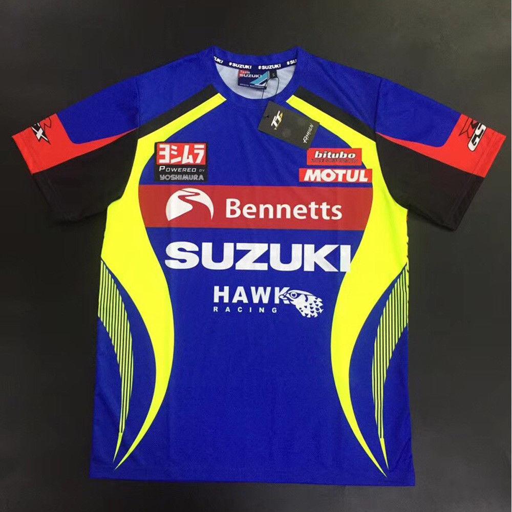 Yoshimura Suzuki Racing Team Fashion Cotton Casual Tops Mens T-shirt New
