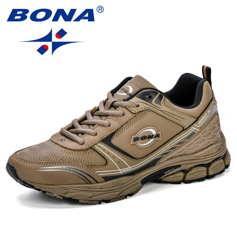 BONA Running Shoes Men Sneakers Men Sport Shoes Breathable Zapatillas Hombre Deportiva Lace-Up Athletic Shoes Male Trainer Shoe