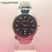 2017 Nuevas Llegadas VALLOTTON Marca Simple y de Moda de Cuarzo Relojes de Lujo de Negocios Relojes de acero de Tungsteno