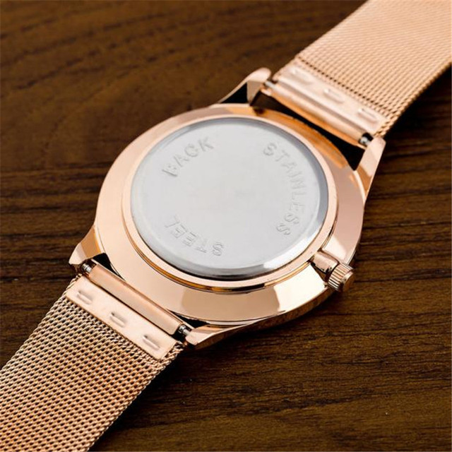 Fashion Alloy Belt Mesh Watch Unisex women's watches Minimalist Style Quartz Watch relogio feminino saat Watches for women