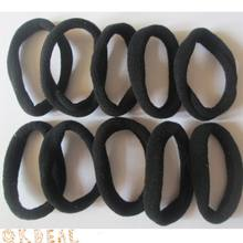 Hot Sale 10Pcs/pack Girls Elastic Seamless Black Hair Ties Band Rope Ponytail Bracelets Hairband Headband Hair Accessories(China)