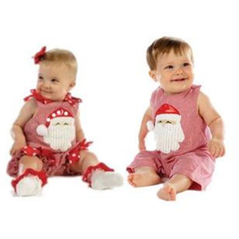 Divat baba karácsonyi rompers fiú lány ujjatlan mellény Mikulás - Bébi ruházat - Fénykép 6