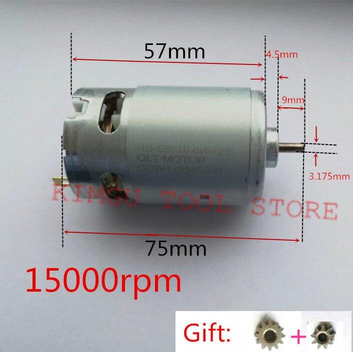 Motor RS-550VC DC10.8V 12 V 15000 rpm para BOSCH MAKITA HITACHI milkiw METABO HILTI RYOBI Drill Toys Aspiradora
