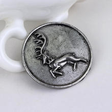 Game Of Thrones Stark Brooch Song Of Ice And Fire Vintage Antique Dire Wolf Shield Pin Brooches For Women Fashion Accessories