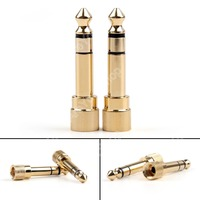 Sale 24 Pcs Adapter Brass Gold 1 4 6 35mm To 3 5mm Plug Stereo Audio