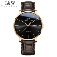Carnival Ultrathin mechanical men watch luxury brand leather strap waterproof watches men clock relogio reloj montre uhren saati carnival brand men wristwatches fashion luxury leather strap watch unique design style waterproof multifunction relogio reloj