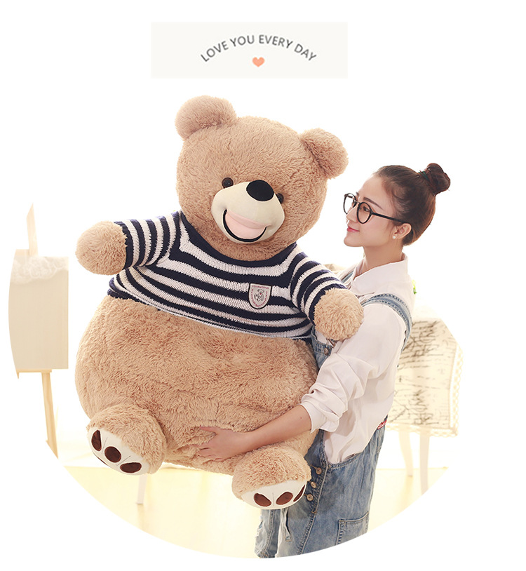 new creative plush blue stripe sweater teddy bear sofa American Bear tatami gift about 60x60x55cm прогулочная коляска teddy bear sl 106 blue owl