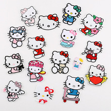 fb75e95e9 Lovely Hello Kitty Icon Embroidered Badges Iron On Patches For Clothing  Cartoon Motif Applique Sticker Clothes