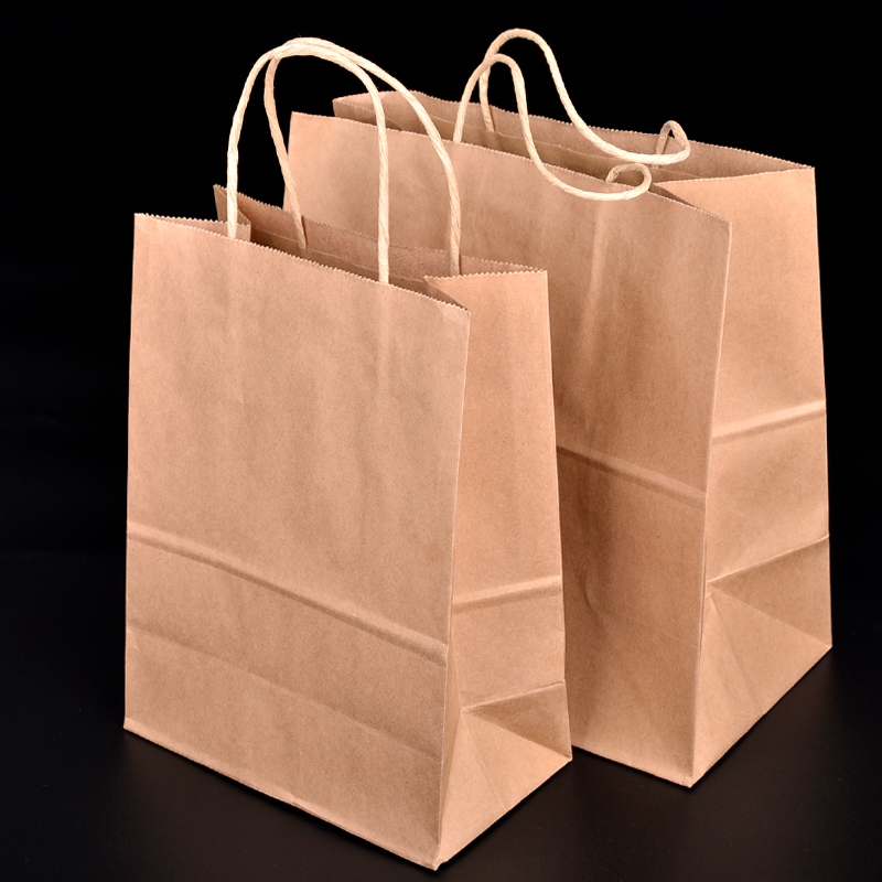 Disposable Kraft Paper Bread Bag Eco Friendly Baking Toast Cake Gift Takeaway Dessert Food Package 50pcs Lot Sk735 In Bags Wring Supplies From