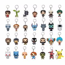 Game of Thrones Night King Tyrion Ghost Keychain Vinyl Toy Harri Potter Fantastic Beasts VENOM Dragon Ball Action Toy Figures(China)