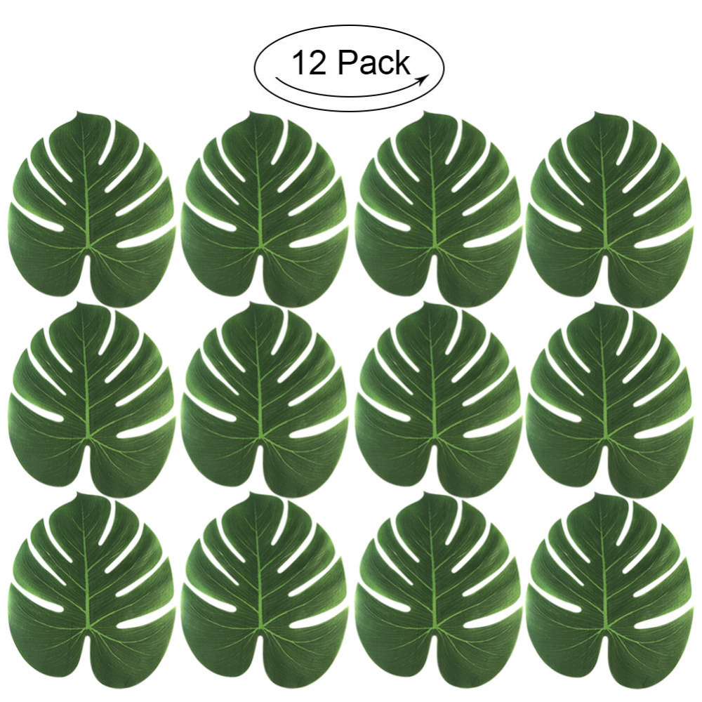 Thanksgiving Chistmas Tropical Palm Leaves Green Leaf Luau Party Table Decor