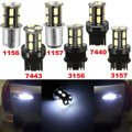 1156 1157 7440 7443 3156 3157 3-LED 5630 12 В DC Белый Автомобилей Хвост Светодиодные Лампы Свет Для Тормозной Обратного лампы