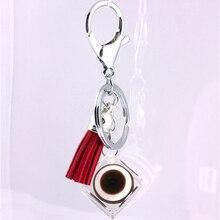Liga de Zinco de Cristal de vidro Moda Coreana Fivela Acessórios Do Carro chaveiro em lote conjunto da cadeia de moda chave da cadeia de telefone Móvel 17