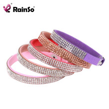 Rainso Europe Hot Selling Fashion Multi Row Crystal Bracelet Leather Bracelet for Women Birthday Gifts Best Present OFB-956(China)