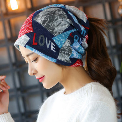 free shipping 2017 Women s autumn and winter head hat fashion scarf warm dual use collar