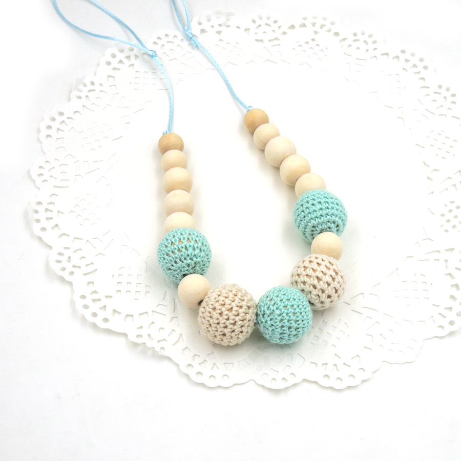 Drop shipping Mint kricka kräm krokett pärlor Tänder halsband - Barnomsorg - Foto 4