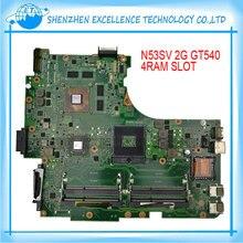 Heißer verkauf motherboard für asus n53sv gt540 4 ram slot 1g/2g original für laptop mainboard hohe qualität