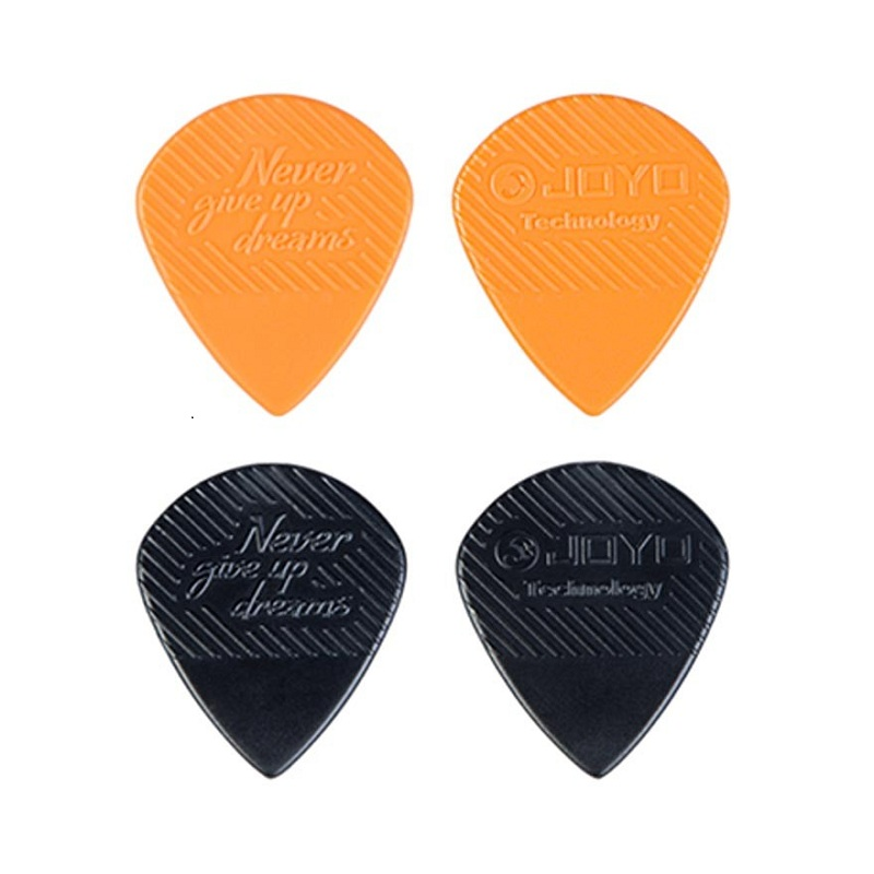 ABS 20pcs/Lot Non-Slip Electric Acoustic Bass Guitars Brands Folk Picks Heavy 1.5mm Durable POM Orange/Black Plastic Picks