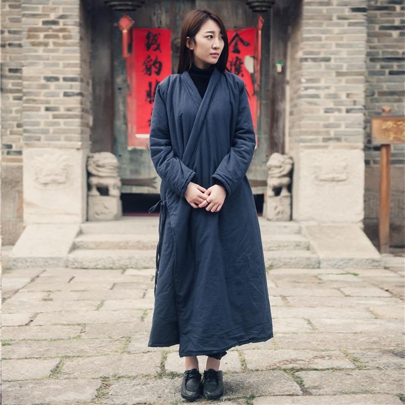 2016 Women Cotton Coats Vintage Winter New Cotton Linen   Parkas   Thicken 4 Colour Loose Warm Clothes Robes Casual Coats