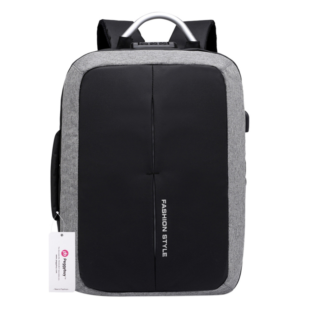 Men 15 inch Laptop Backpack USB Charging Anti Theft Backpacks Back to School Teenager Shoulder Schoolbag Waterproof Male Mochila