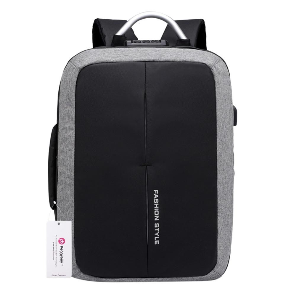 Usb Charging 15 Inch Laptop Backpack Men Anti Theft Backpacks Teenager Boys School Bags Mochilas Waterproof Male Travel Rucksack