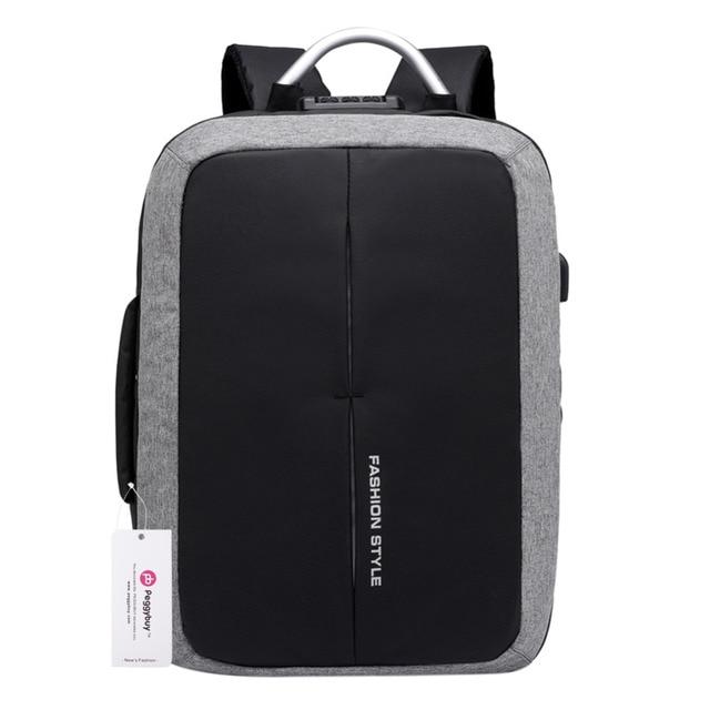 USB Charging 15 inch Laptop Backpack Men Anti Theft Backpacks Teenager Boys  School Bags Mochilas Waterproof Male Travel Rucksack 3841176bee8f5