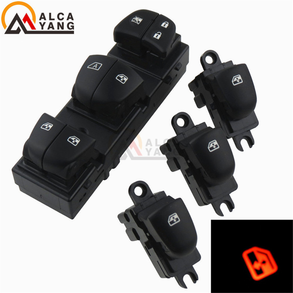 Image 2 - 1 Set/4PCS Red / White / Ice Blue Light For Nissan Qashqai/Altima/Sylphy/Tiida/X Trail Power Window Switch/Single Window switch-in Car Switches & Relays from Automobiles & Motorcycles