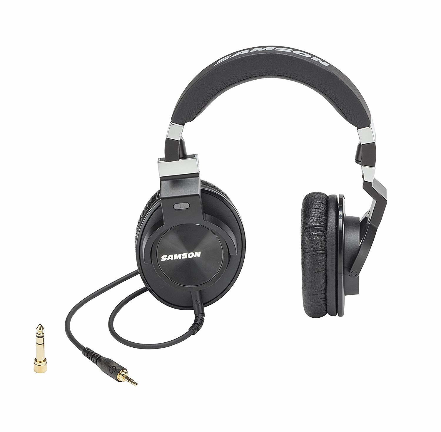 Samson Z25 Professional Closed Back Comfort Wear Earphone Over ear Studio Monitoring Headphones For Studio Record Music Lovers in Headphone Headset from Consumer Electronics