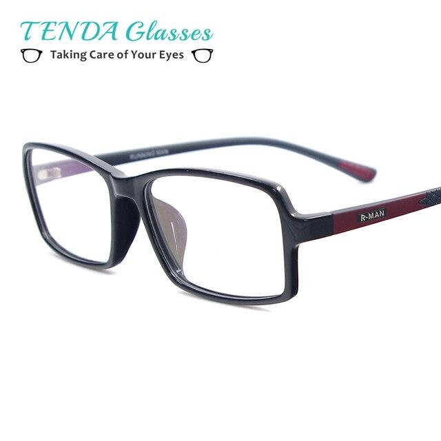 Homens Moda TR90 Leve Meio Aro Completo Óculos de Armação Retangular Óculos  Para Leitura De Lentes a7de420dbe