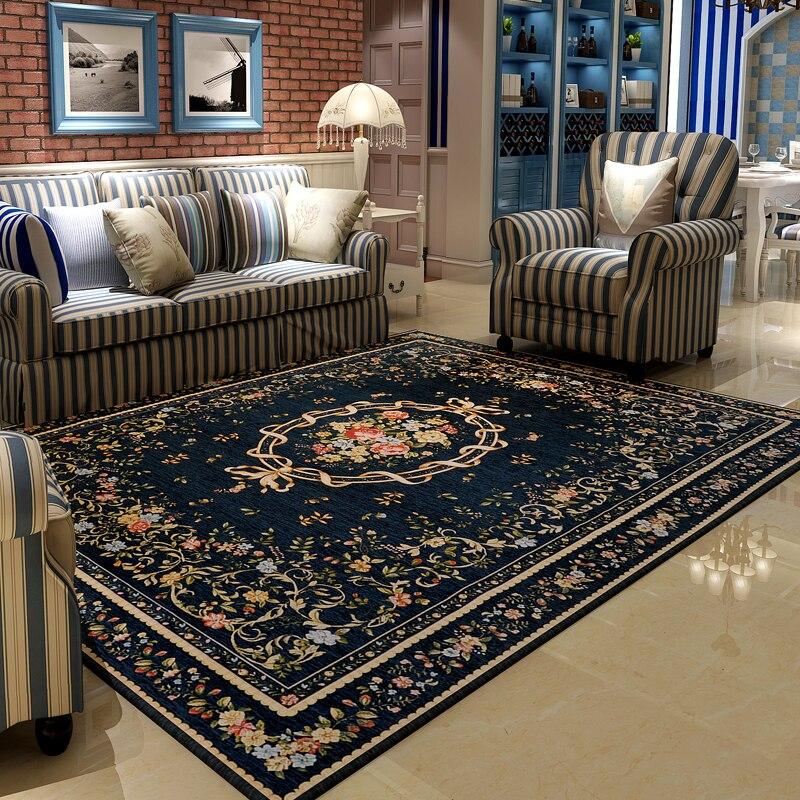 Tapis et tapis de Style méditerranéen pour la maison salon grand tapis de chambre à coucher tapis de sol de Table basse étude/Restaurant tapis